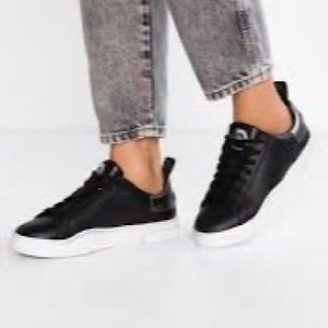 Women's Diesel S Clever Low Black leather Shoes 8